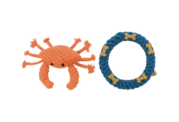 One Kings Lane - The Pet Shop - Dog Rope Toy Pack, Crab and Ring