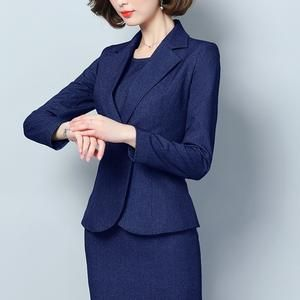 Ol Ladies Office Uniform Designs Dresses Elegant Women Blazers 2019
