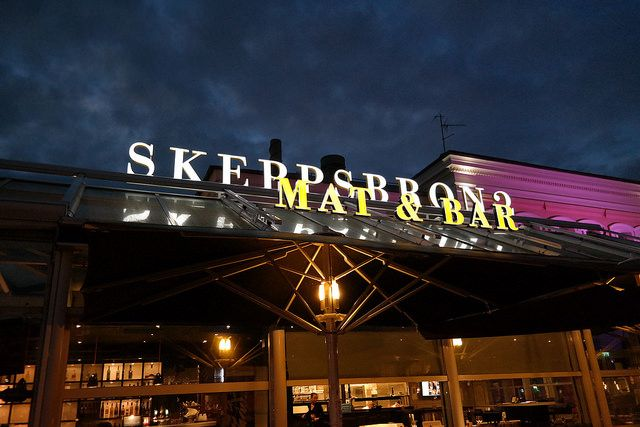 Skeppsbron 2 Malmö Exterior Restaurant signage LED channel letters