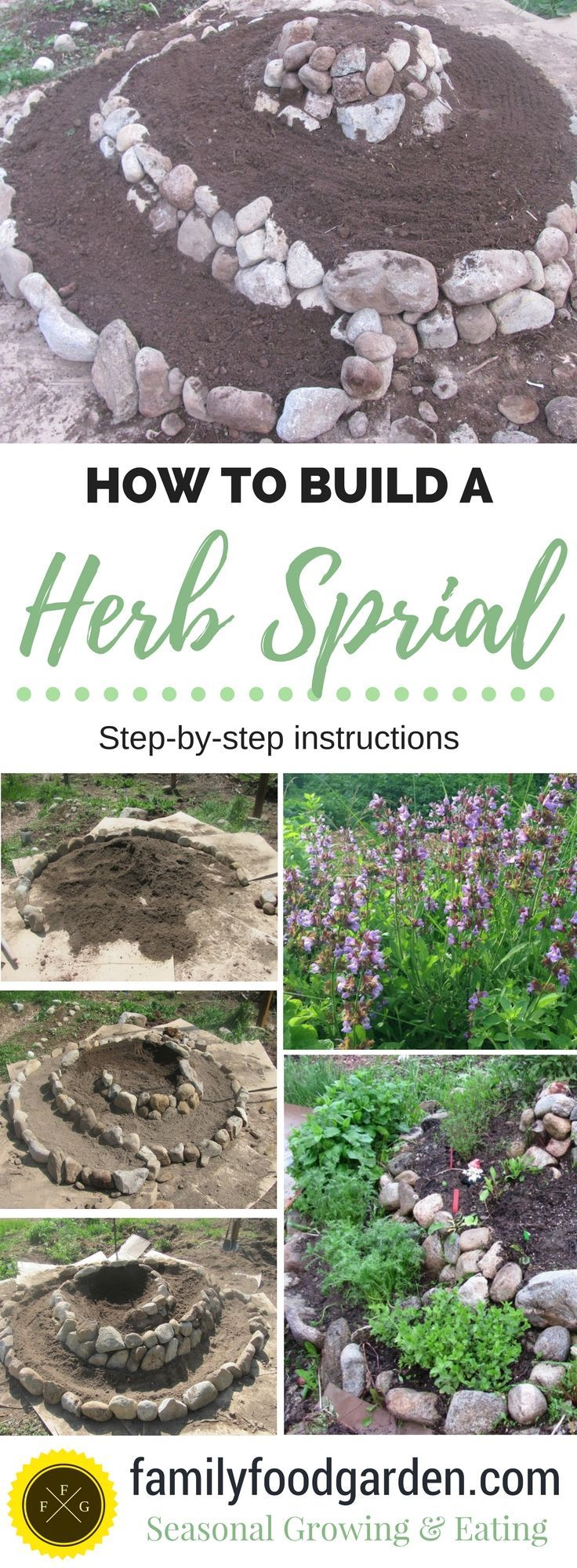 How To Build A Rock Garden Herb Spiral