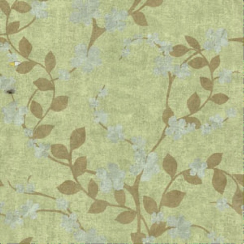 Olive, sage and moss antiqued vine floral wallpaper from