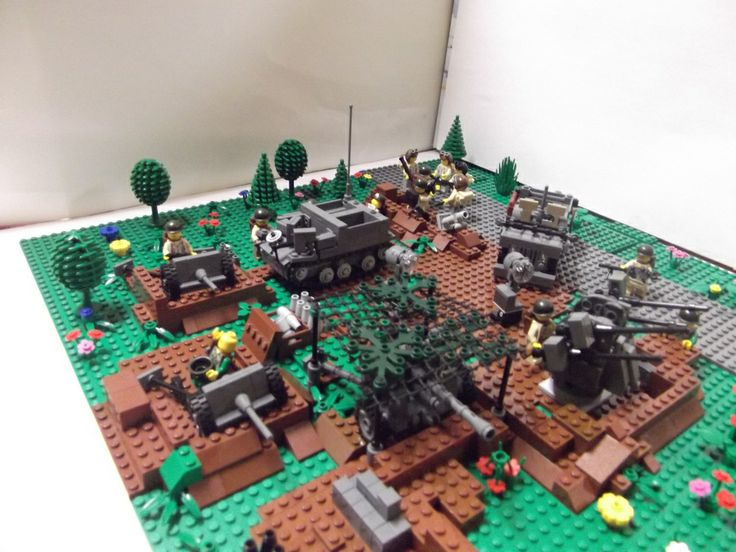 lego ww2 bunker instructions