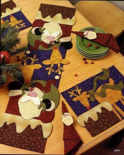 camino de mesa santa   muñecos navideños   Pinterest   Mesas and ...