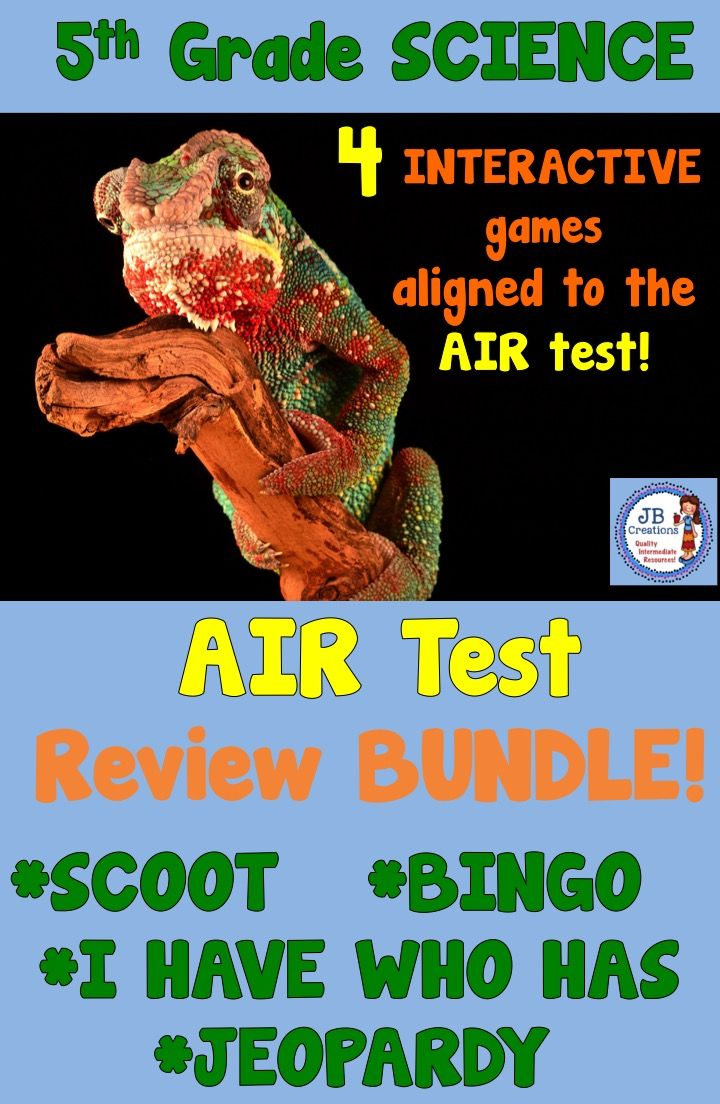 5th Grade Science Test Prep Bundle (aligned to AIR test