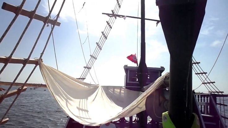 Пиратский корабль, Джерба, Тунис, Июль 2017. Pirate Ship Djerba Tunisia