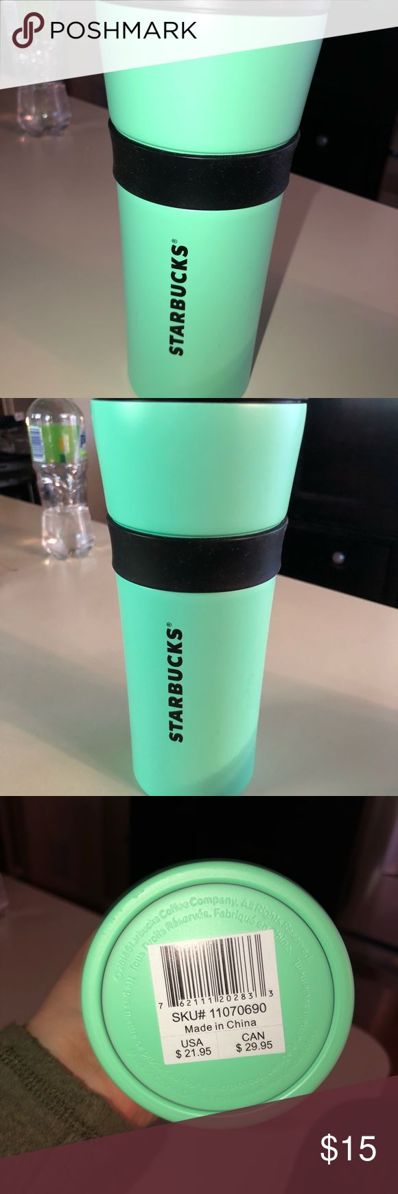 Starbucks Coffee/travel mug Great cond. never used. Does have a couple of scratches from sitting in my box. Very pretty color. starbucks Other