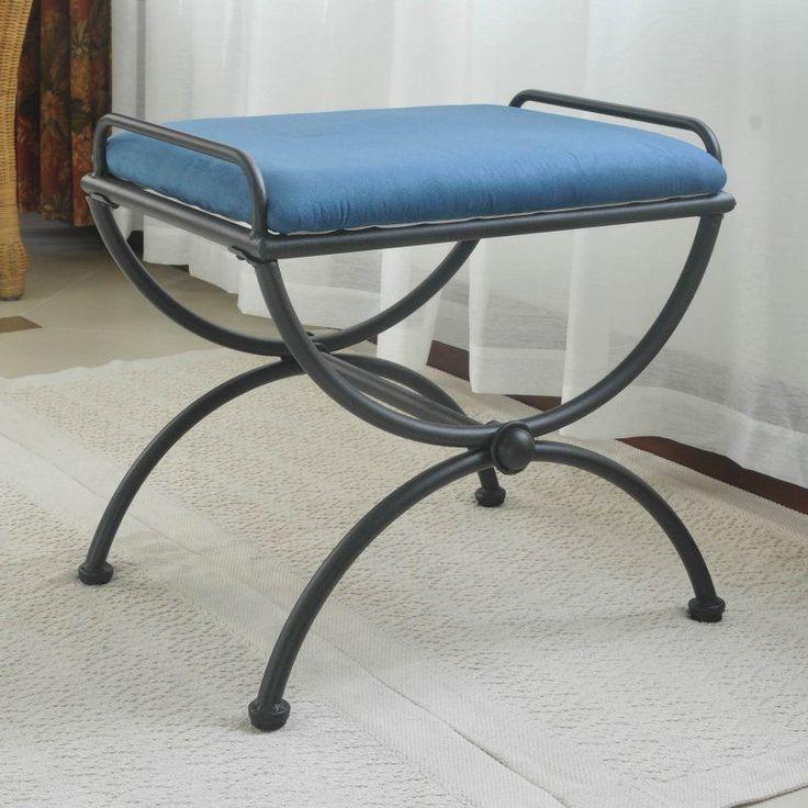 International Caravan Iron Upholstered Vanity Stool in Indigo. Best 25  Vanity bench ideas on Pinterest   Vanity set ikea  Makeup