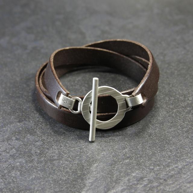 Bracelet cuir et argent, homme et femme