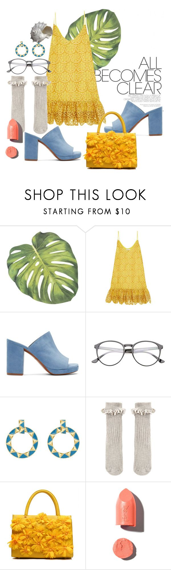 """""""sunshine"""" by nover on Polyvore featuring Alexis, Robert Clergerie, House of Harlow 1960, Accessorize, PUR and Oly"""