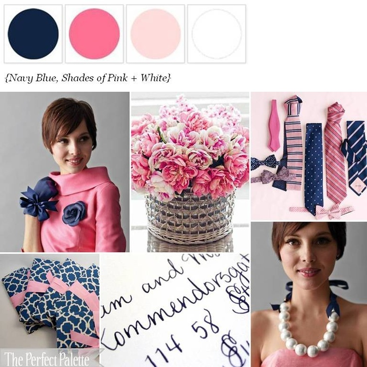 Navy Blue + Pink ☛ http://ow.ly/9K6JP