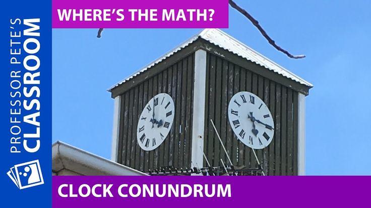 Where's the Math #25 for Grades 3-6: Clock Conundrum