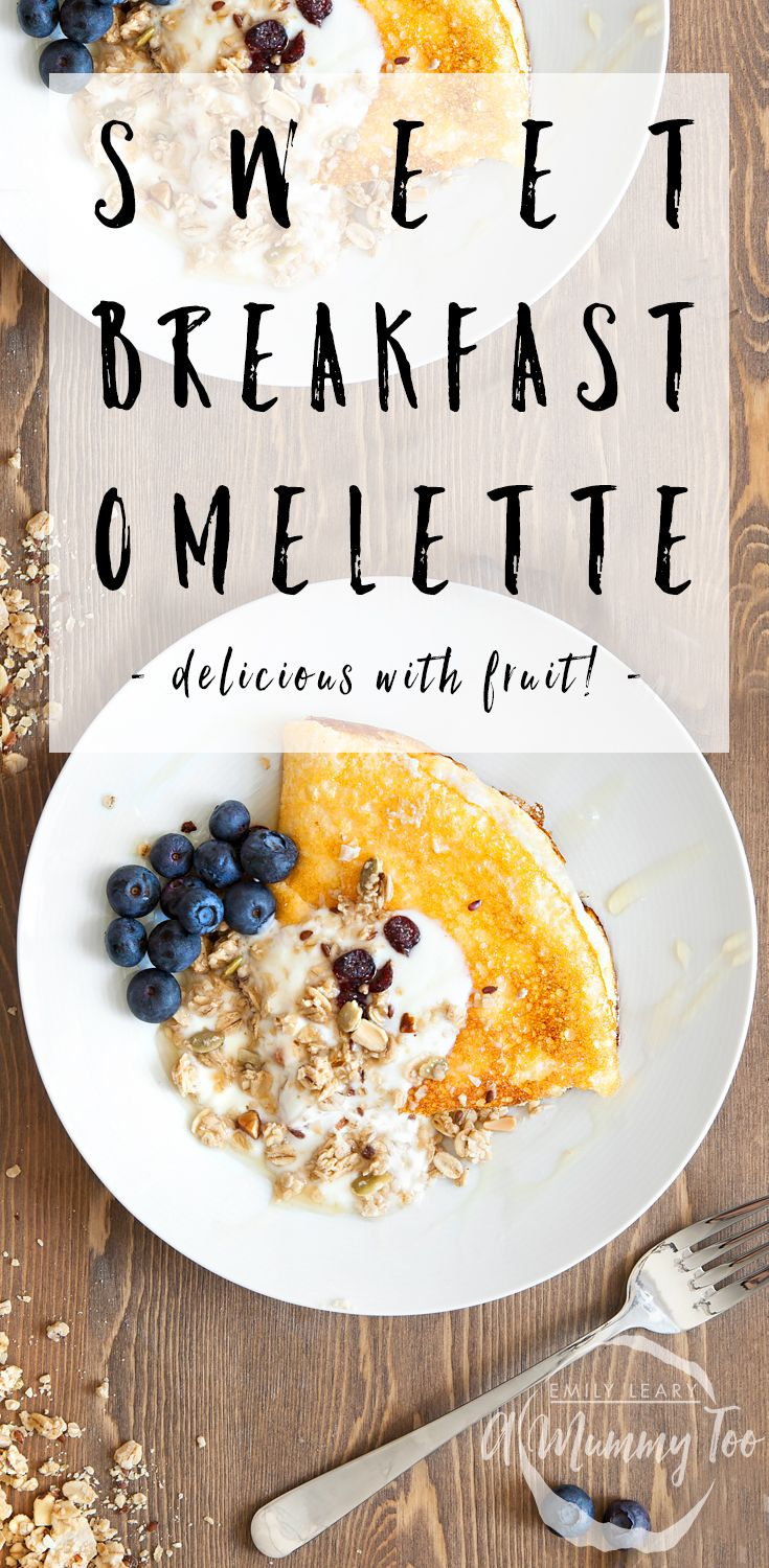Sweet breakfast omelette. Yes, really! It's delicious! If you imagine a sweet soufflé it's kind of like that. Perfect treat to start the morning.