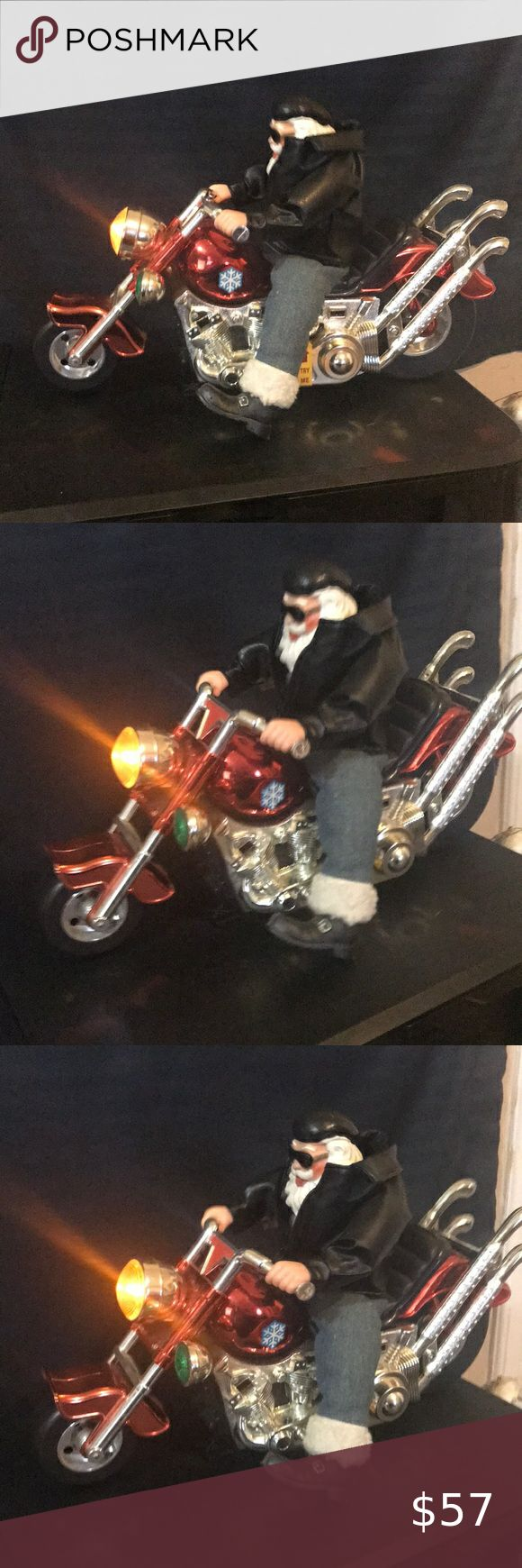 Musical Born To Be Wild Santa Claus On Motorcycle Santa Claus Musicals Rock And Play