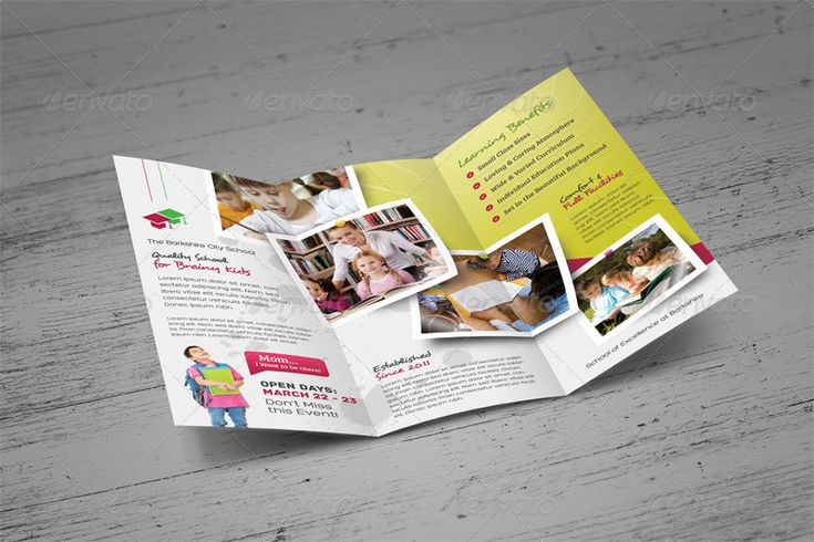 21 best School Brochure Template PSD images on Pinterest School - school brochure template