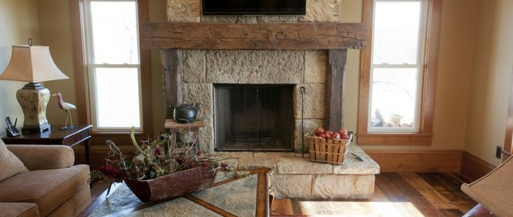 Rustic fireplace mantel from old barn wood olde wood for Decorate old fireplace