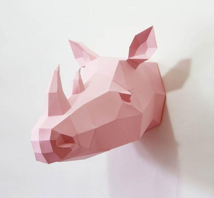 Polygonal Animals – De jolis animaux géométriques en papier | Ufunk.net