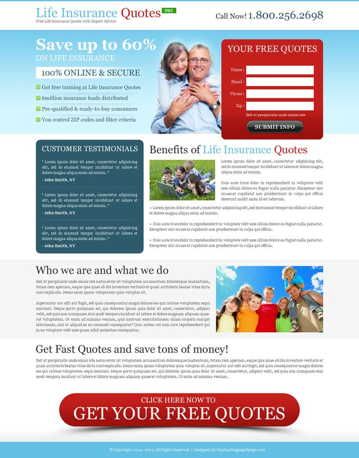 Free Life Insurance Quotes 87 Best Life Insurance Landing Page Design Images On Pinterest .
