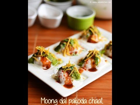 Moong dal pakoda chaat recipe | Rak's Kitchen