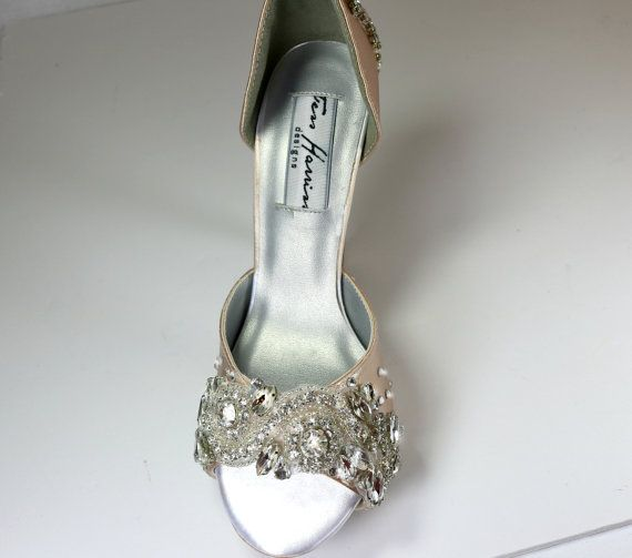 Sparkling Champagne Wedding Shoes .. by everlastinglifashion