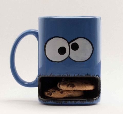Cookie monster dunk mug- Seriously one of the best ideas I've ever seen.