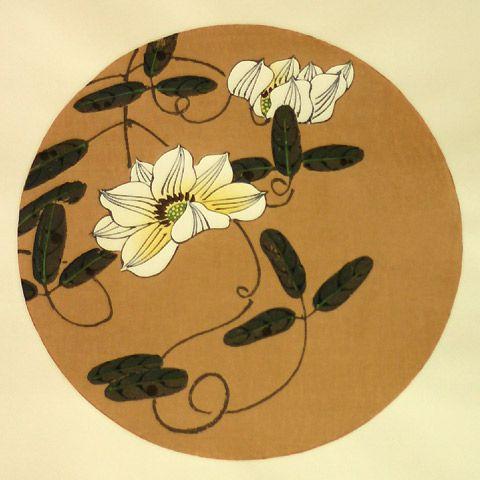 伊藤若冲『鉄線(てっせん)』-木版画(額装もできます) - 京都 木版画の販売 Winds!芸艸堂(うんそうどう)/Ukiyo-e, Woodblock print - Winds! UNSODO