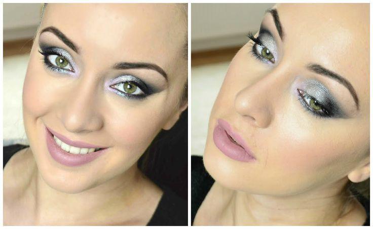 Stříbrné kouřovky a jemně růžové rty • Makeup Revolution