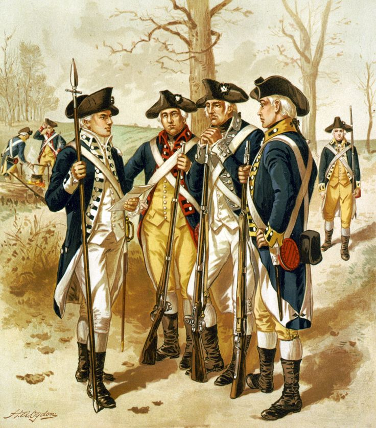 Infantry,_Continental_Army,_1779-1783 Today in History- George Washington Was Made Commander Of The Continental Army (1775)