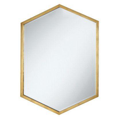 Coaster Furniture Hexagon Wall Mirror - 24W x 34H in.