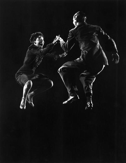 Willa Mae Ricker and Leon James, Lindy Hop, by Gjon Mili, 1943