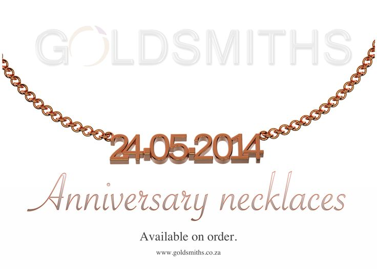 Anniversary necklace - Available in sterling silver, yellow gold, rose gold and platinum. Contact us at info@goldsmiths.co.za to place your order.