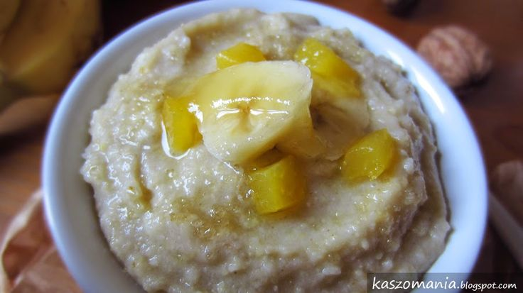 Kaszomania - pomysły na dania z kaszy jaglanej: Mus bananowo-jaglany