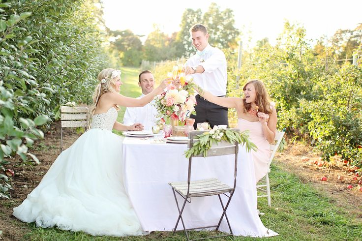 Bridal Party at Robinette's Apple Haus & Winery