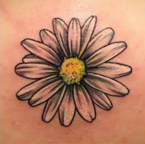 Simple daisy tattoo