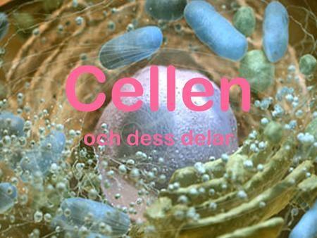 Cellen och dess delar. Celler Kroppen är uppbyggd av en mängd små delar som…