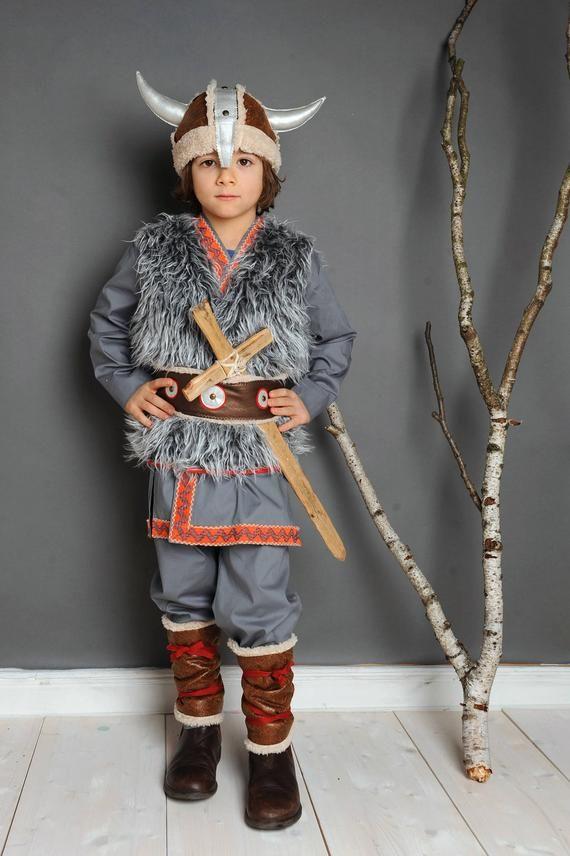 Viking Costume 4 8 Years Wicky Larp Stone Age Viking Costume