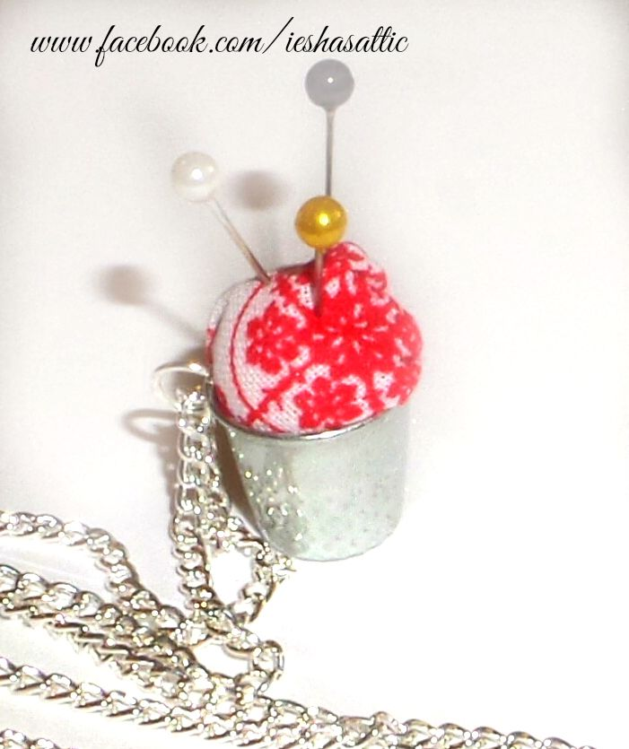 Thimble pin cushion for around your neck. Never lose your pins again. www.facebook.com/ieshasattic