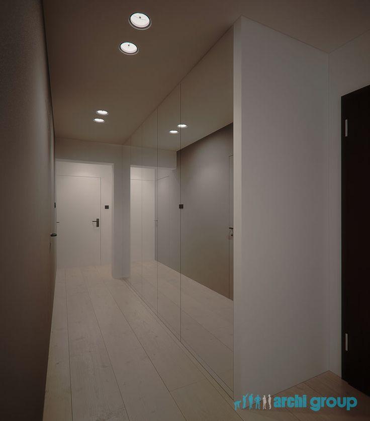 Entrance hall design in flat in Katowice POLAND - archi group. Holl wejściowy w mieszkaniu w Katowicach.