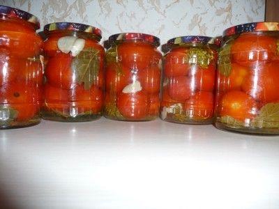Маринованные помидоры на зиму, ну очень вкусные
