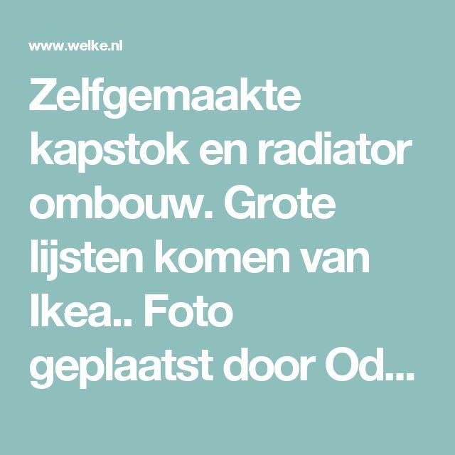 Zelfgemaakte kapstok en radiator ombouw. Grote lijsten komen van Ikea.. Foto geplaatst door OdetteWithag op Welke.nl