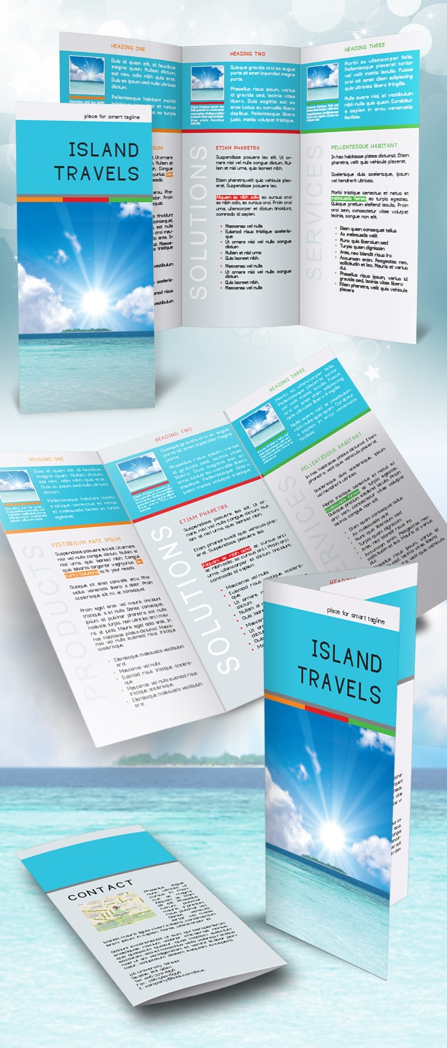 indesign tri fold brochure template free brochure design