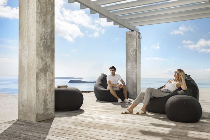 Kyoto Outdoor Bean Bag & Ottoman - stylish, comfortable and durable #putlifeonpause #lujo #outdoorfurniture