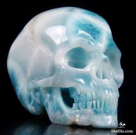 .Larimar Crystal Skull.