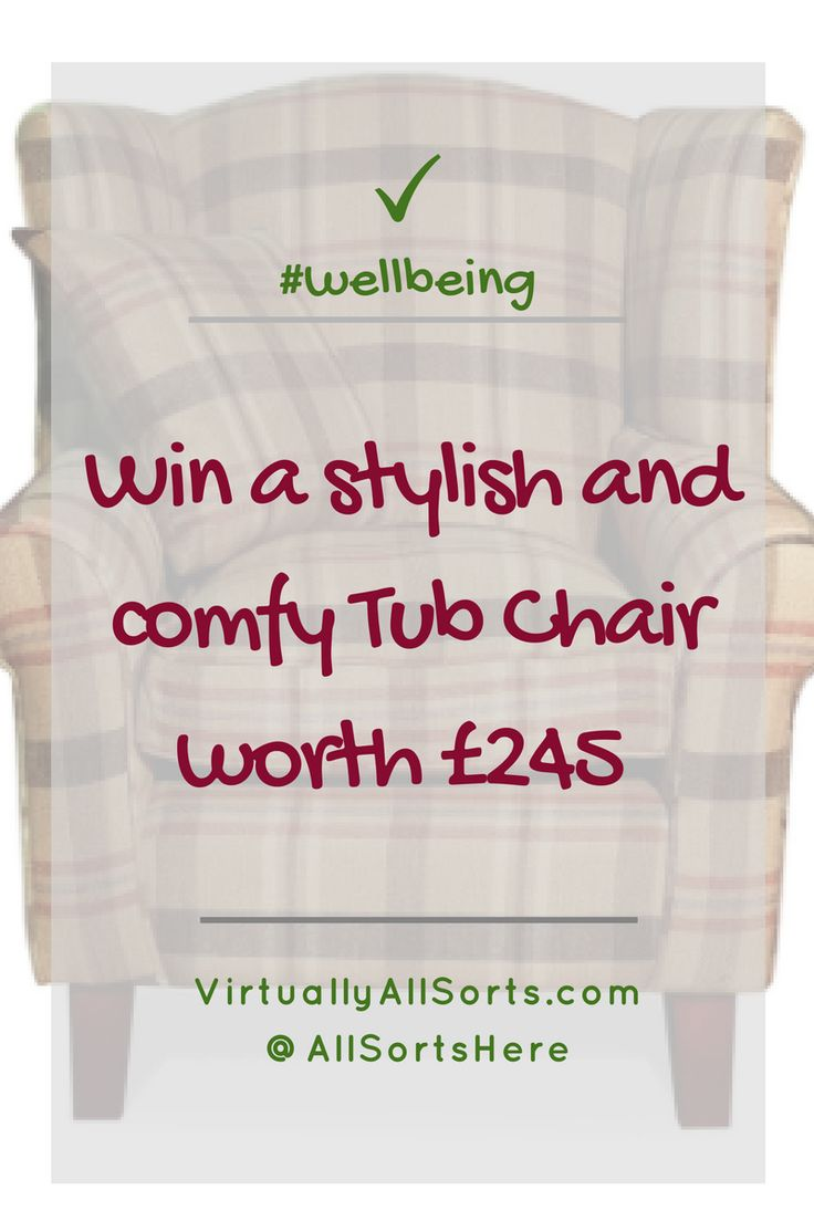 Win a stylish and comfortable tub chair!