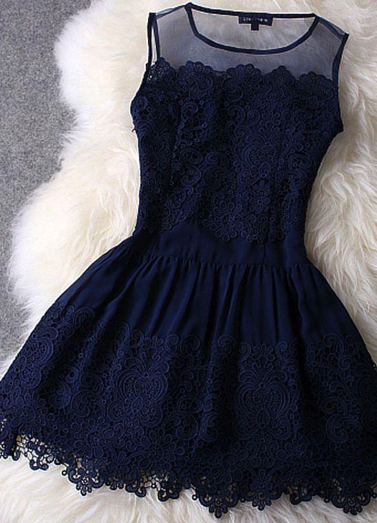 Lace Chiffon Dress ♥
