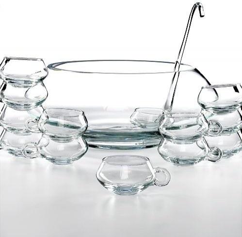 Moderno 14 Piece Punch Bowl Set -modern shape and contemporary design.
