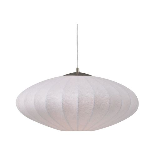 Design Classics Lighting Modern Pendant Light with Oval White Shade - 19-1/2  sc 1 st  Pinterest : oval pendant light - azcodes.com