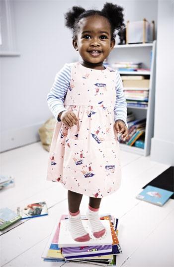 Mini Boden Wrap Dress & Pointelle Shirt (Infant) | Nordstrom