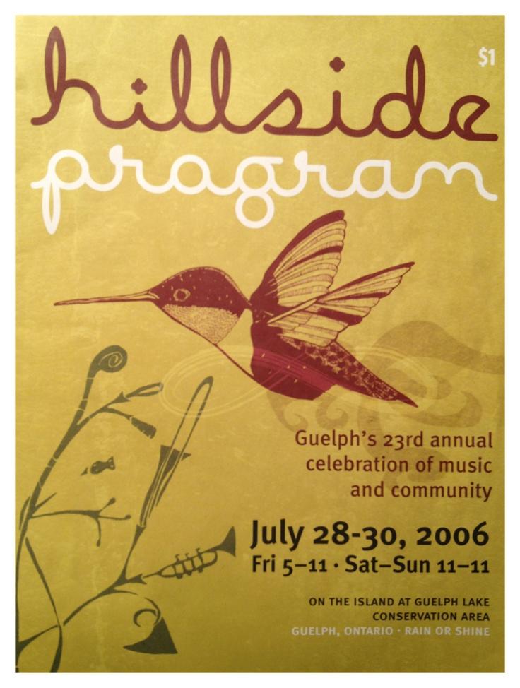 hillside guelph poster music festival