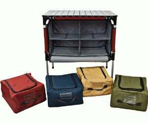 Camp Table and Organizer. Very cool website as well. Lots of neat stuff! camping gear, best camping gear #camping