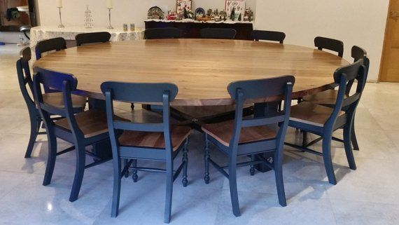 12 14 16 Seater 110 Circular Round Table Blackened Oak